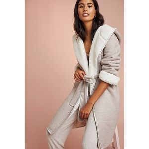 Anthropologie Pure + Good Snow Day Robe M/L
